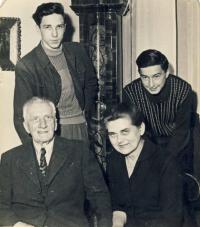 With grandfather and his second wife Maruška