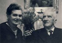 Grandfather with wife Maruška