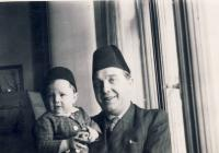 With father in fez