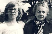 Daughter Michaela with aunt Růžena Vacková