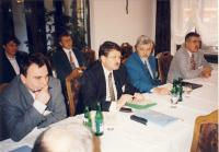 Meeting at Ministry of Social Affairs, about 1994