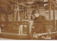 Weaving mill of the family Linka before the war