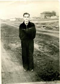 Ihor Popovych in exile on the Far East. 1953