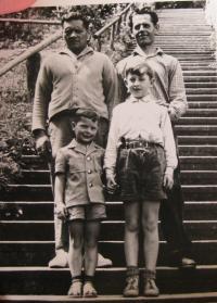 Brother Josef Bocek and František Bocek with their sons Klaus and Petr