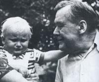 father of mr. Ebr with his grandson Michael