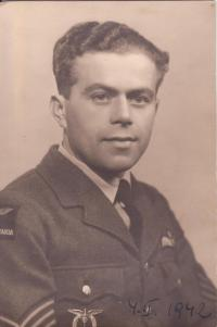 Františekl Dostál, who died in a Welington X, HE496 airplane during a training flight - he crashed into the sea, 9 miles west of Silloth in the Solway Bay in April 1943