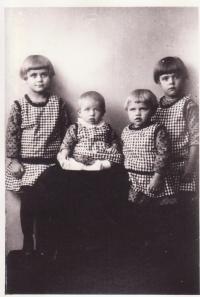 From left to right, Drahoslava, Boženka, Libuše Dostálovi and cousine Mary
