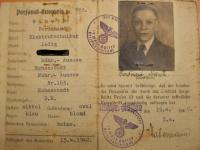 identity card of Ferdinand Maneth from Germany