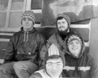 Petr Blažka and his Cangaroo boys. 1979.