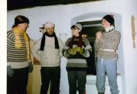 Petr Blažka during Scout spring holiday. 1996.