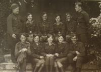 Naděžda Brůhová (front row, 2nd from the left), 1945