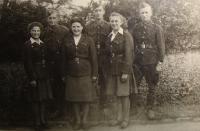 Naděžda Brůhová (1st from the left)