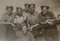 Alexander Burger in sitting position in Scotland, 1942