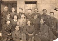 Staff of the Army Corps Children's Home  - top left father Lucián Morozovič, on the right in the front row Kazimír's mother Růžena