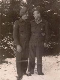 Jaroslav Cimala (right) and František Sikora
