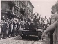 Marching parade in Prague