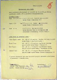 Surveillance protocol by secret police, 1976