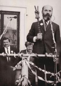 Vojtěch Sedláček becomes mayor, 1990
