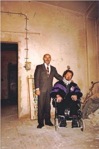 Vojtěch Sedláček and Josef Selichar from the Jedlička Asylum at the start fo their bussines, 1996
