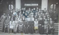 Třída reálného gymnázia v Chustu na Podkarpatské Rusi ve které studoval Vasil Coka