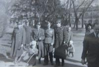 Vasil Coka with other soldiers of the Czechoslovak army in 1946 in Prague