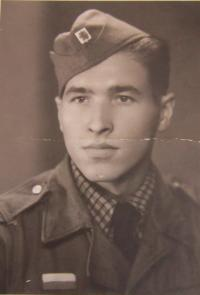 Vasil Coka in the Czechoslovak army in 1945