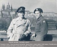 Jaroslav Klemeš and Ludvík Čambala (on the right) in Prague - 1945