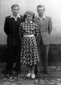 Karel Pacner with His Brother and Sister (1956)