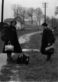 Ráno po celonočním přechodu hranic s Bavorskem, říjen 1949
