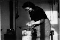 Jarka Maiwaldova-Kreysova v táboře Valka, Norimberk, jaro 1950