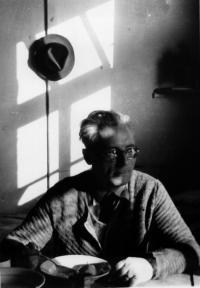 Karel Maiwald v táboře Valka, Norimberk, jaro 1950