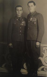 Josef Babák on the left side, his cousin Vladimír Hryzbil on the right side