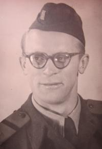 Hugo Drásal in 1952 in the army