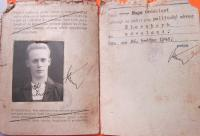 The first identification card Hugo Drásal received after the war