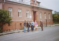 In front of the former village school in Dalov