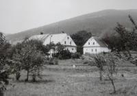 His wife's family farm in Rejholtice