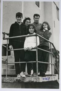 with her family - 1968
