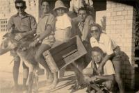 In Kibbutz Ginegar - 1949 on donkey