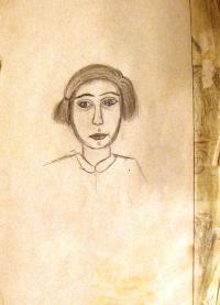 Maud Stecklmacher, autoportret, Terezin 1943