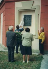 Unveil of plague in Zámrsk