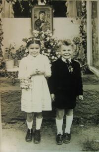 Brother Rudolf and cousin - Corpus Christi in Vyšehrad