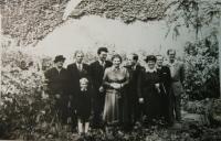 Wedding of her parents (the Čermák grandparents on the left, Josef Hošek at the back on the right)