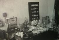 Father in laboratory