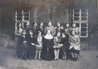 Mother in convent school led by Ursuline sisters, 1932