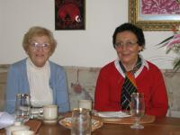 Helena Kosková with her sister Eva Vaňková 2012