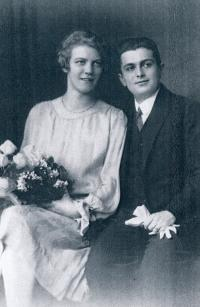 Marie Topinková and Otto Fischl 1926