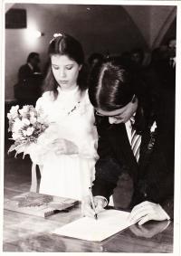 Wedding with Helena Černá (nee Hukalová)