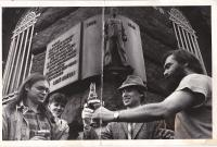 Celebration of 2000th runner of Politických vězňů street
