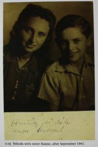 With his sister Hana - 1941