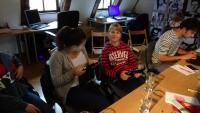 Pupils on the video workshop